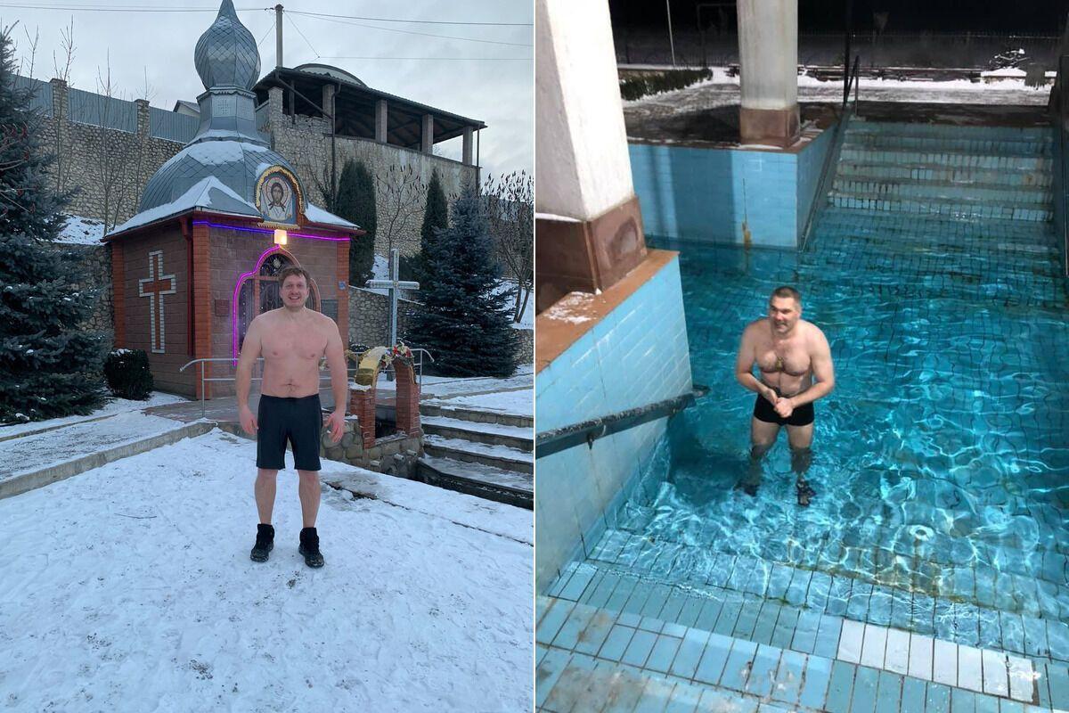 Тернополяни на Водохреще пірнають навіть у басейн