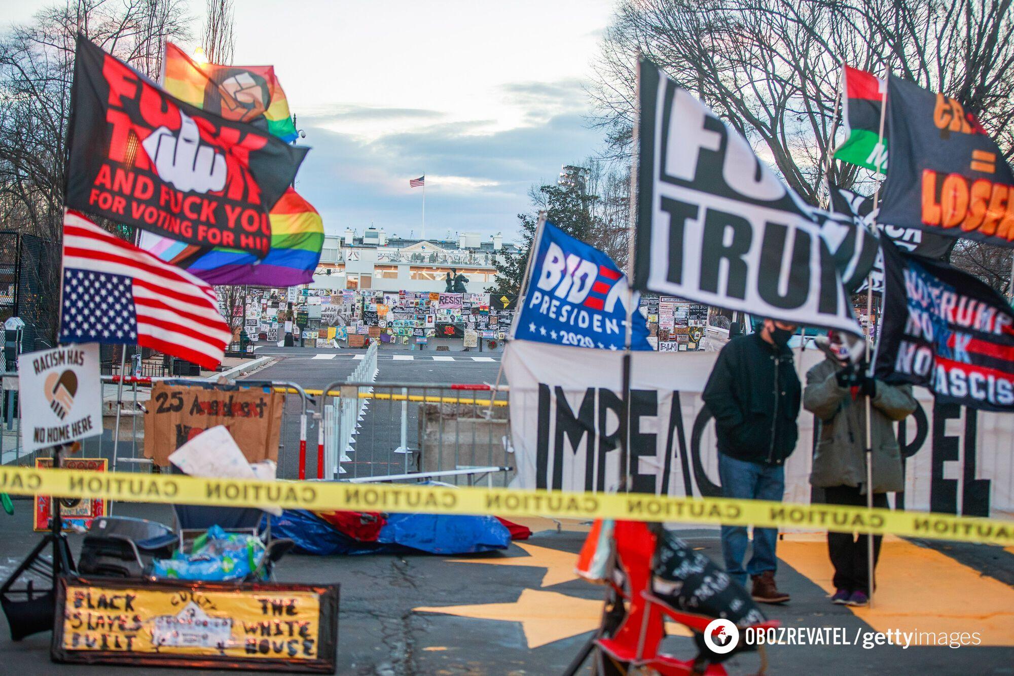 Мітинги у Вашингтоні напередодні інавгурації