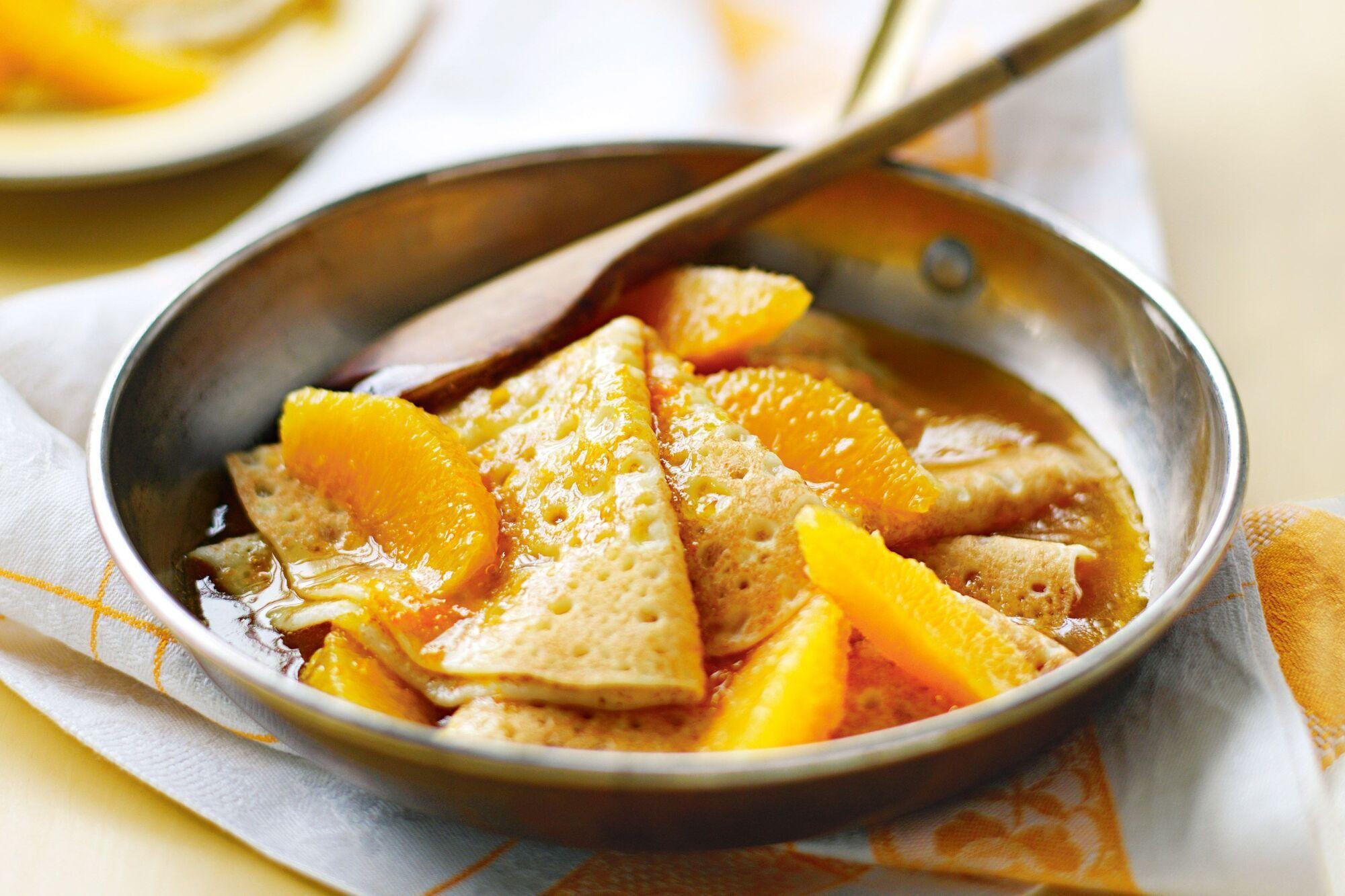 млинці з апельсином