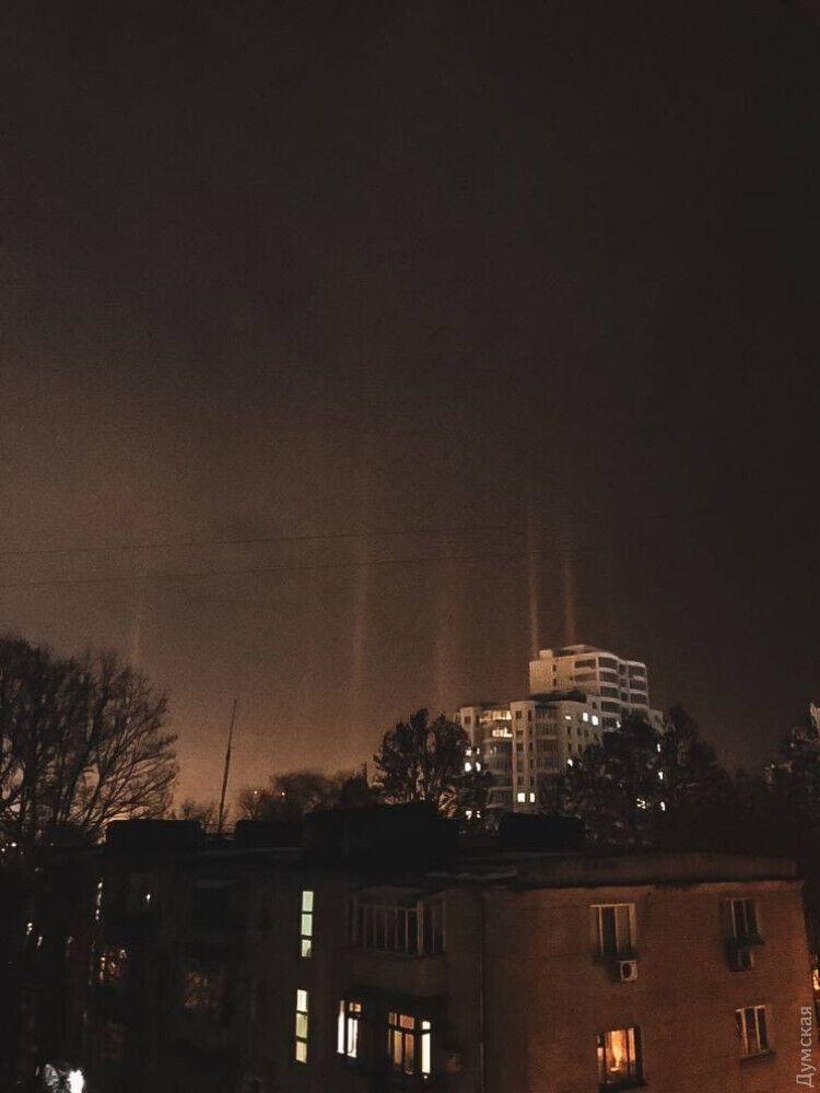Световые столбы над Черноморском