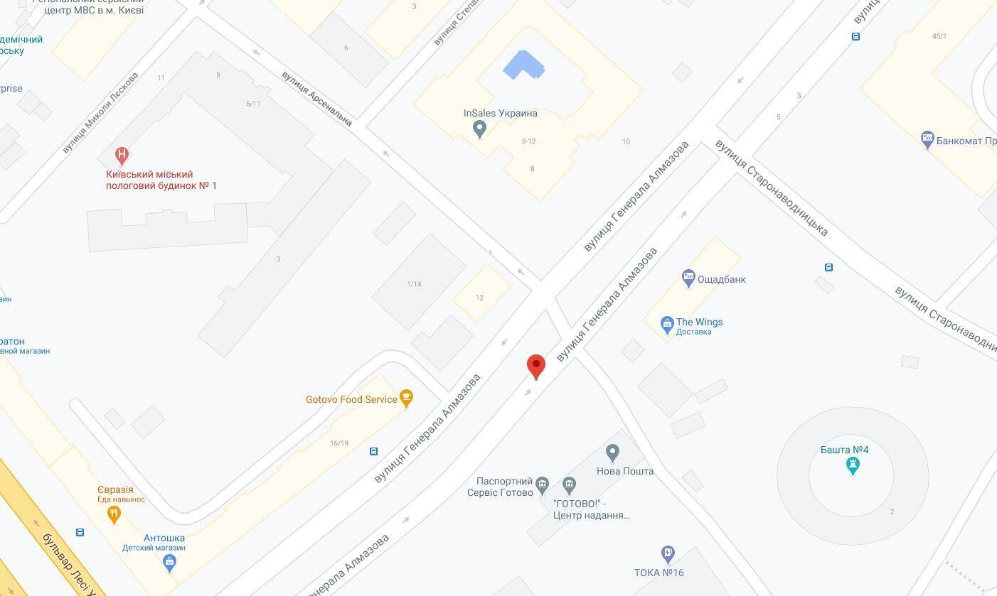 ДТП произошло на улице Генерала Алмазова.