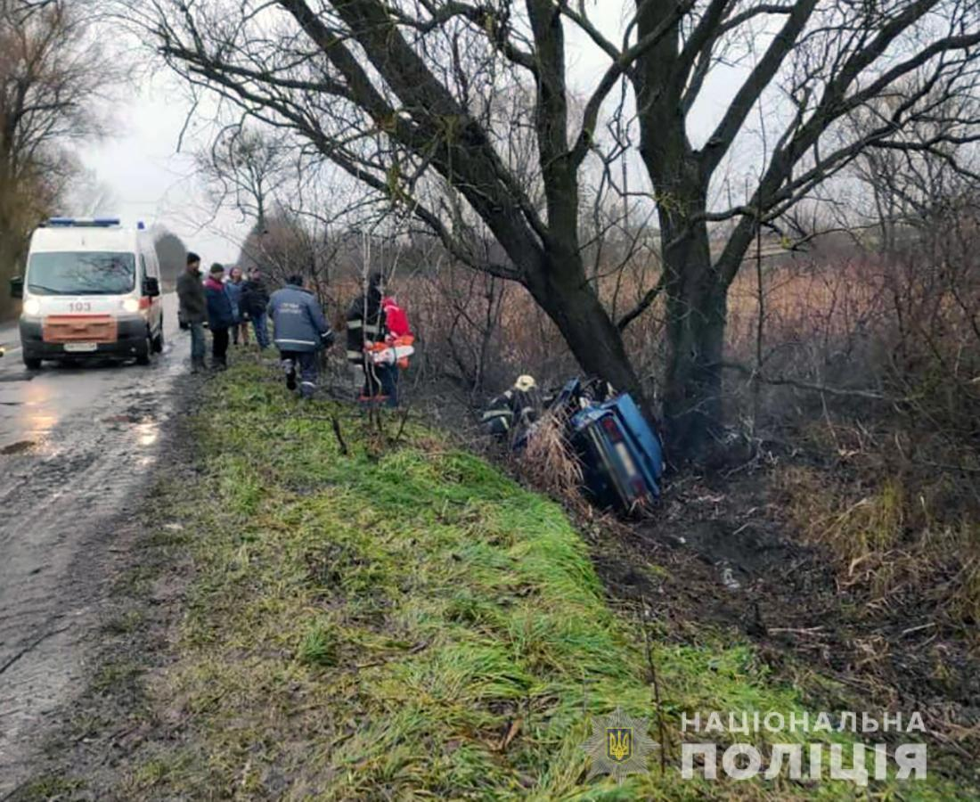 20-летний водитель ВАЗ-2107 не справился с управлением