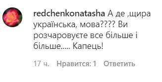 Коментарі користувачів мережі під постом Могилевської.
