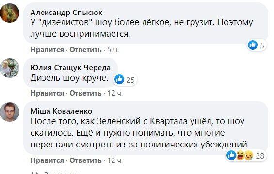"""Комментарии украинцев по поводу шоу """"Вечернего Квартала""""."""