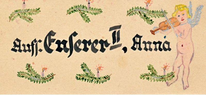 Рождественская открытка для одной из надзирательниц СС