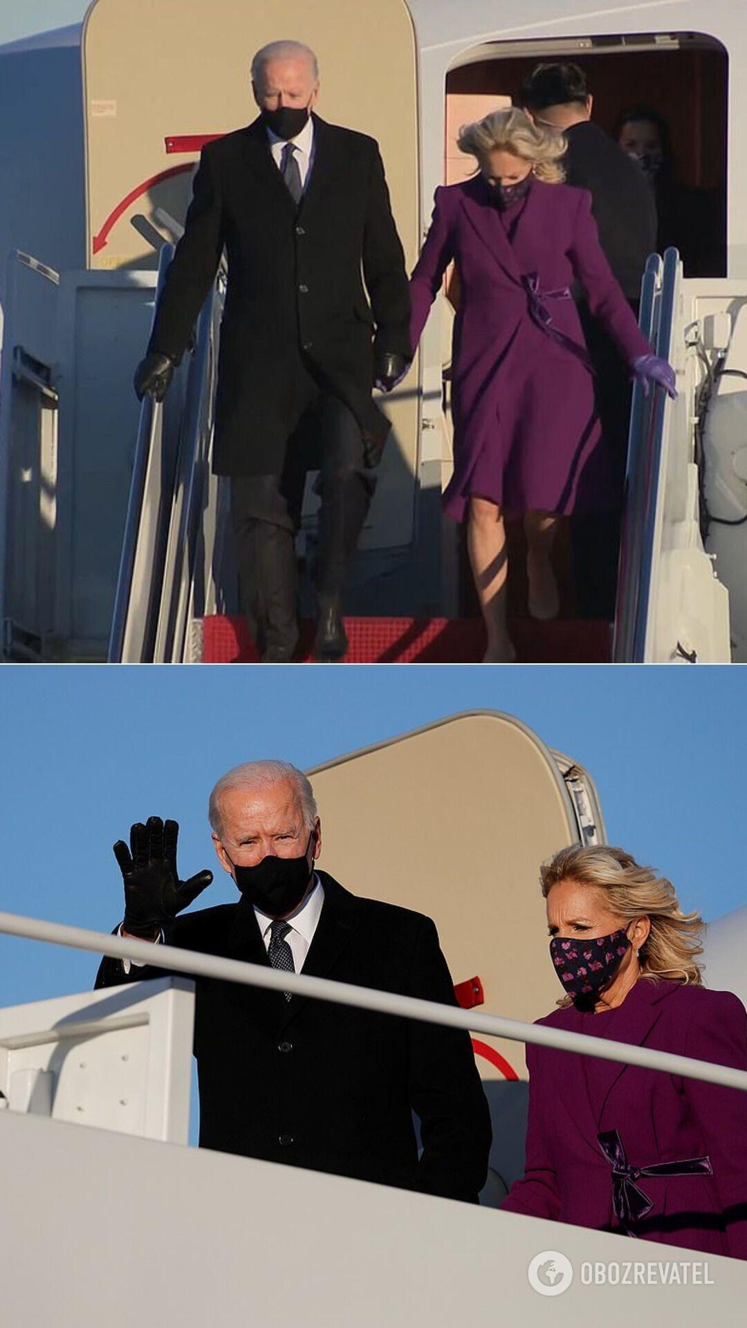 Джо Байден и его жена Джилл прибыли в Вашингтон