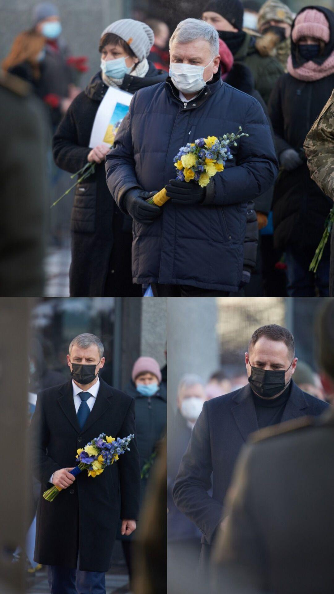 Политики на церемонии чествования памяти погибших Героев