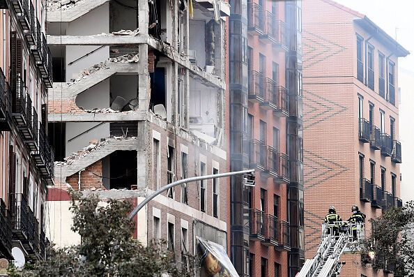Последствия взрыва в столице Испании