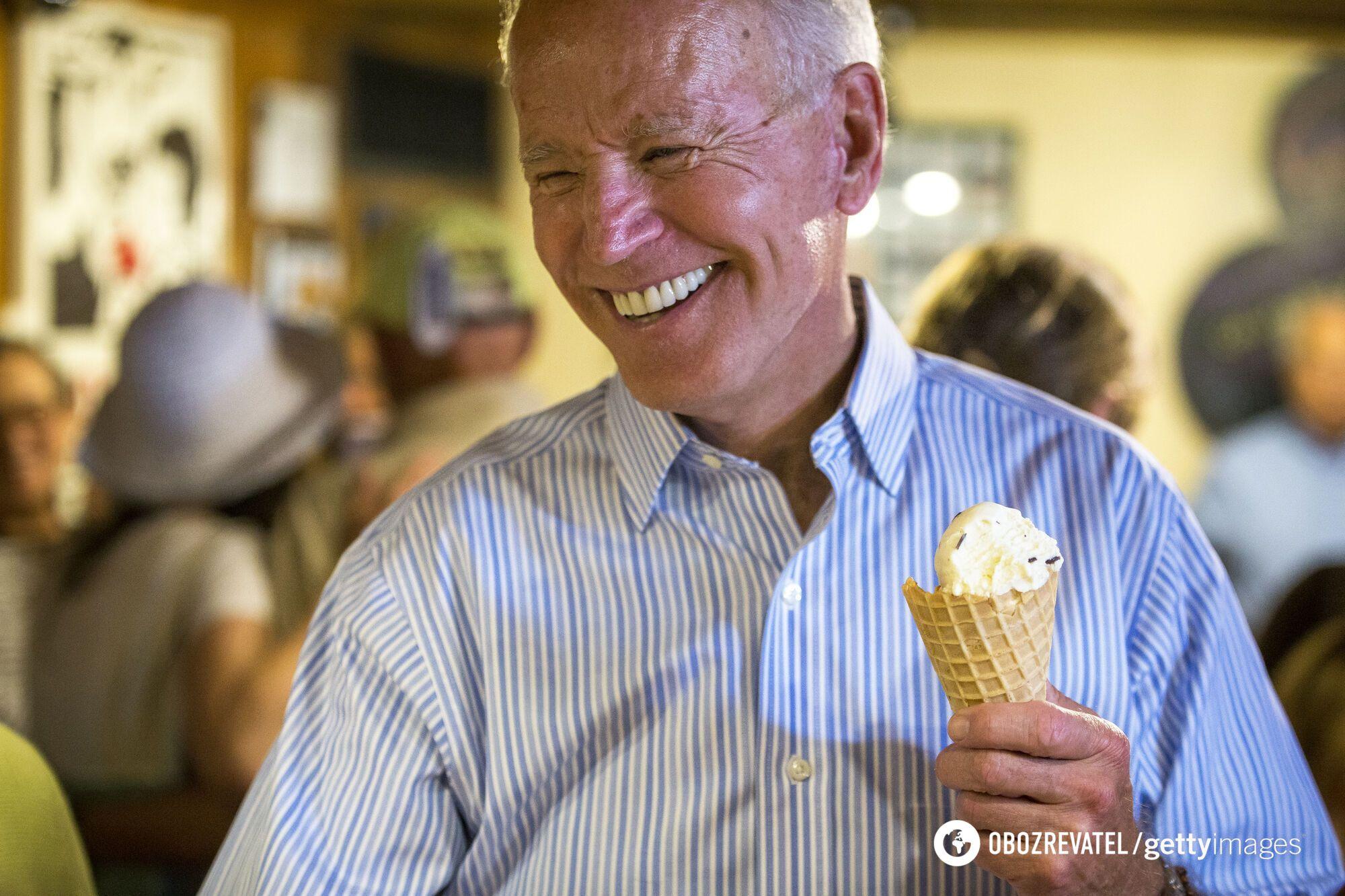 Байден в кафе з морозивом. 2019 рік.