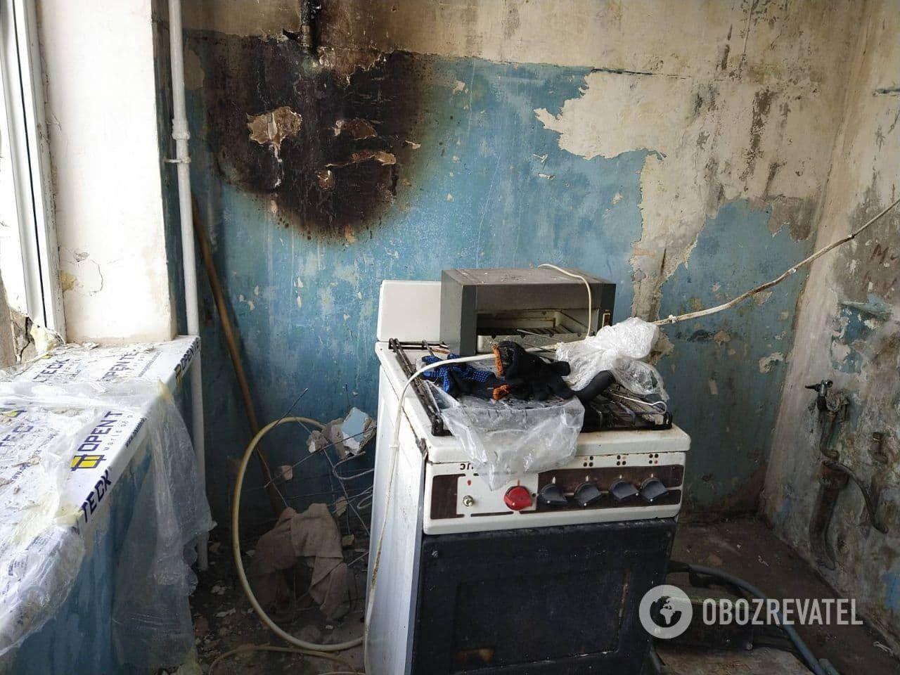 Взрыв произошел на кухне.