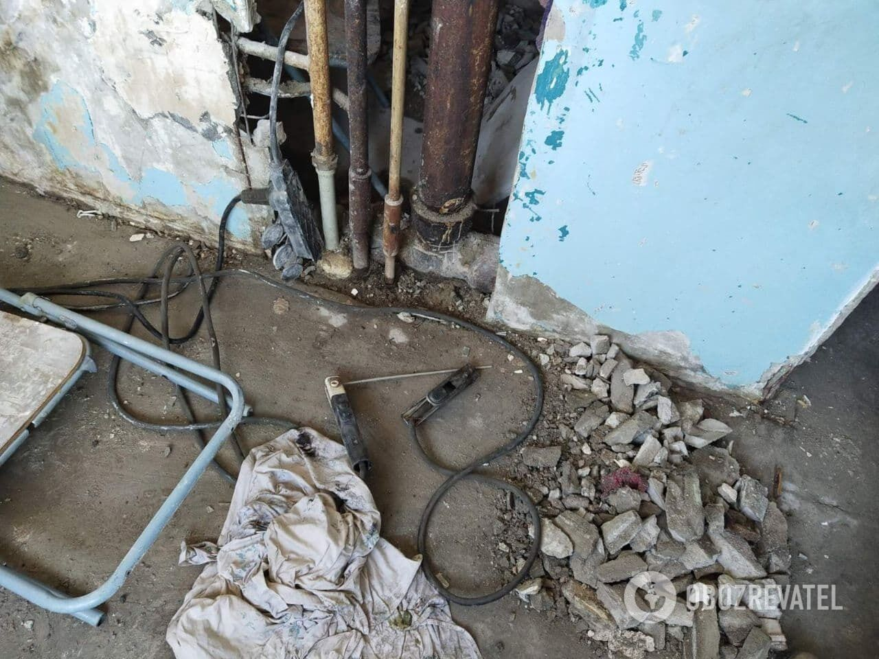 Взрыв произошел во время газосварочных работ.