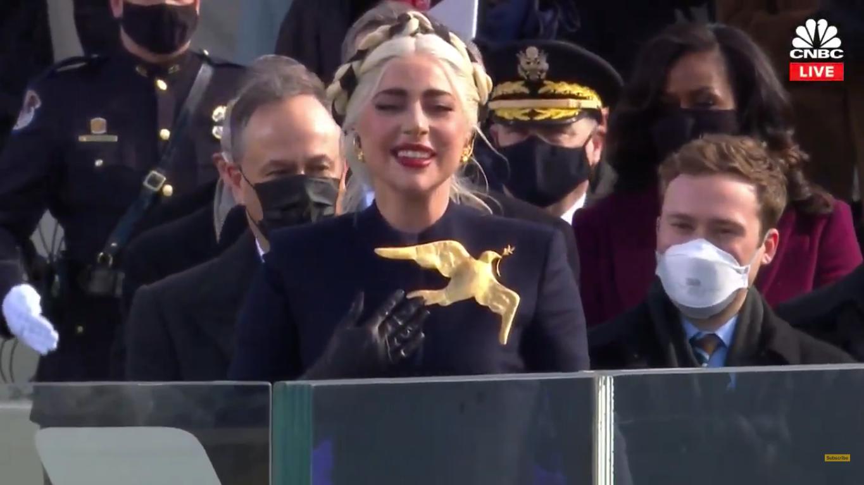 Леди Гага и ее образ на инаугурации