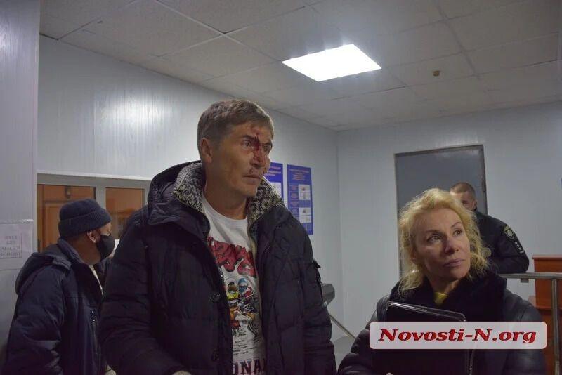 Александр Жолобецкий с женой