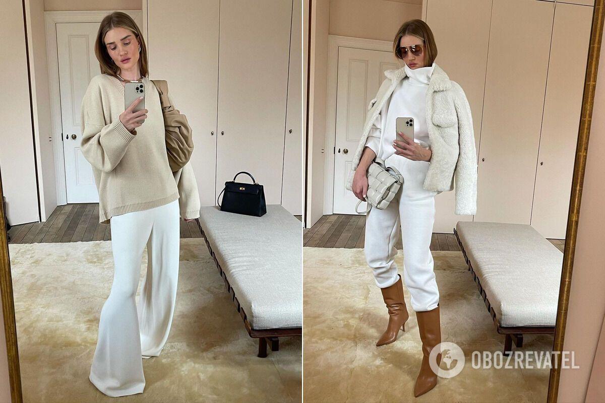 Модные зимние образы от Роузи Хантингтон-Уайтли