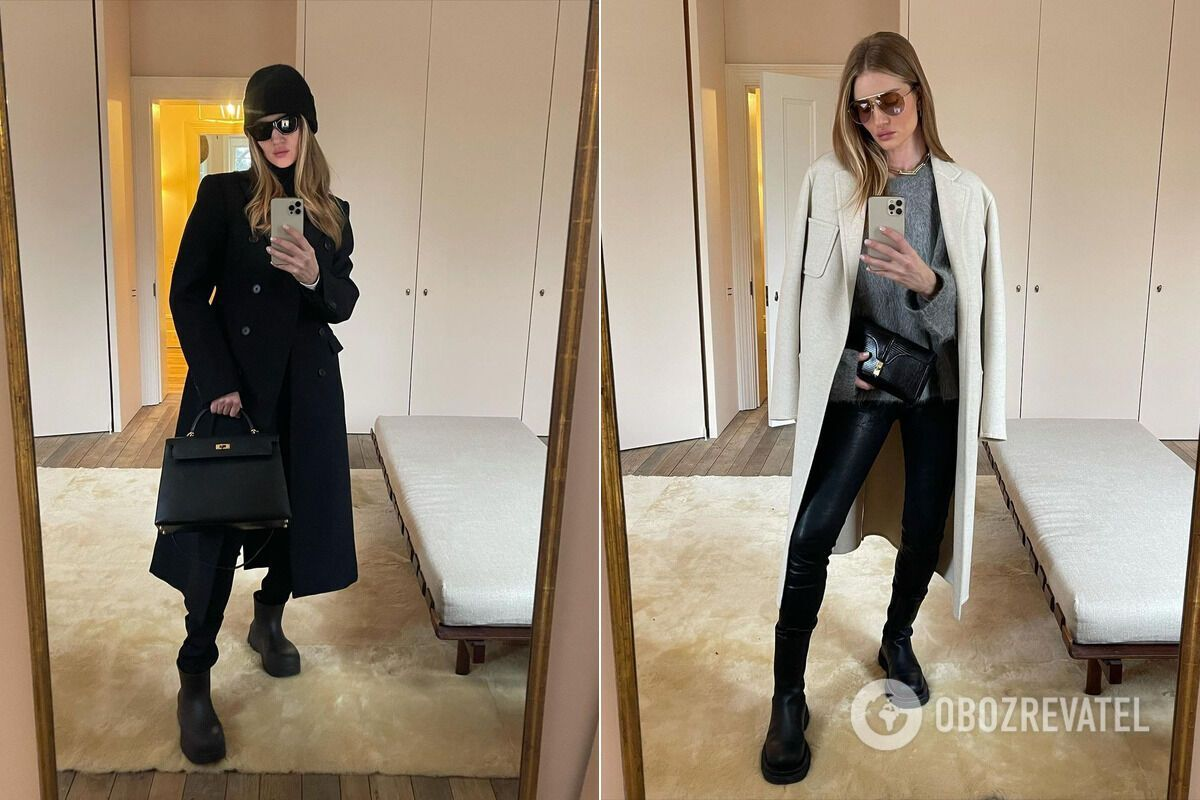 Роузи Хантингтон-Уайтли показала стильные наряды на зиму 2021