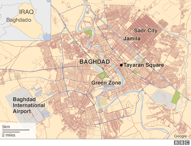 Площадь Таяран в Багдаде