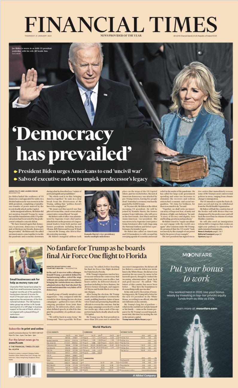 Обкладинка The Financial Times