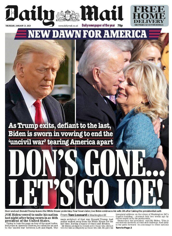 Обкладинка Daily Mail