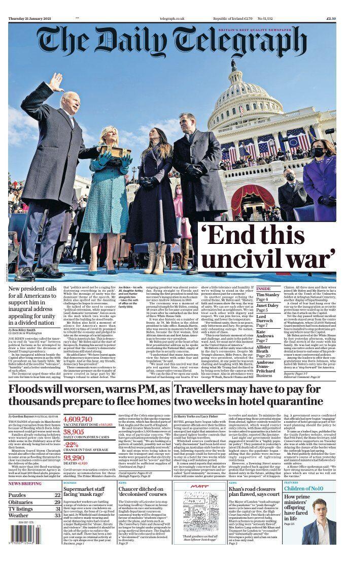 Обкладинка The Daily Telegraph