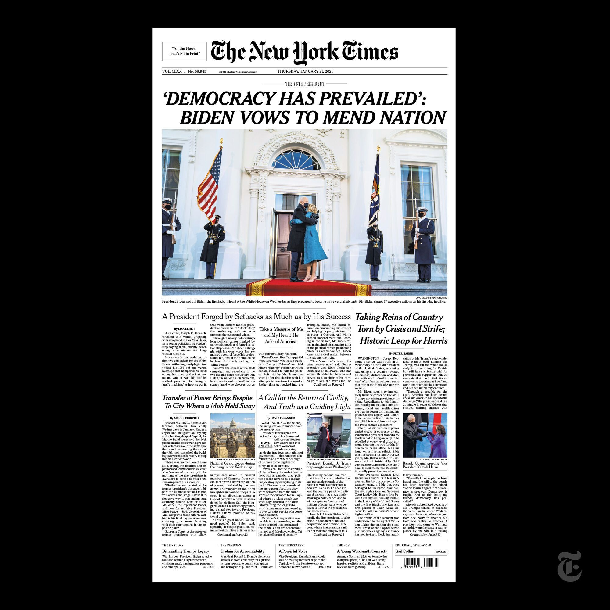 Обкладинка The New York Times