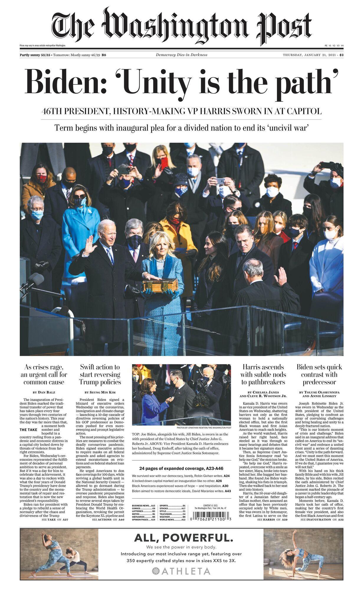 Обкладинка The Washington Post