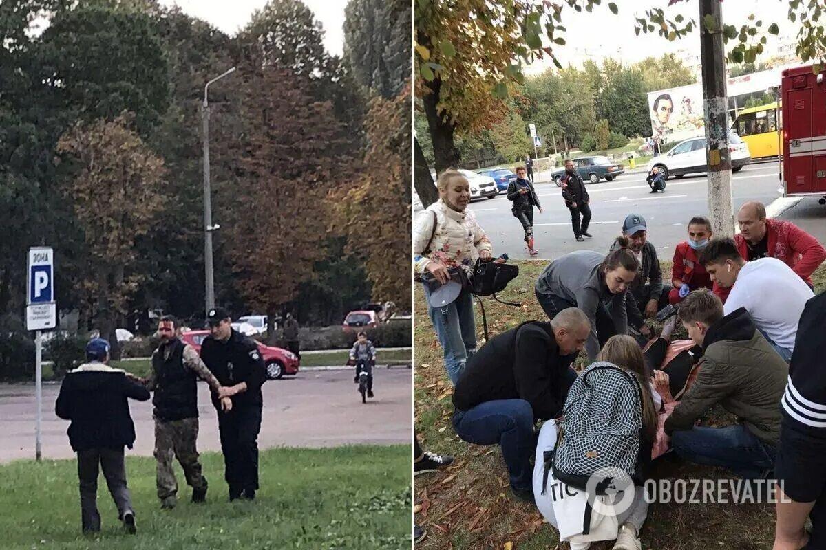 Пока полиция задерживала водителя, прохожие оказывали помощь пострадавшим.