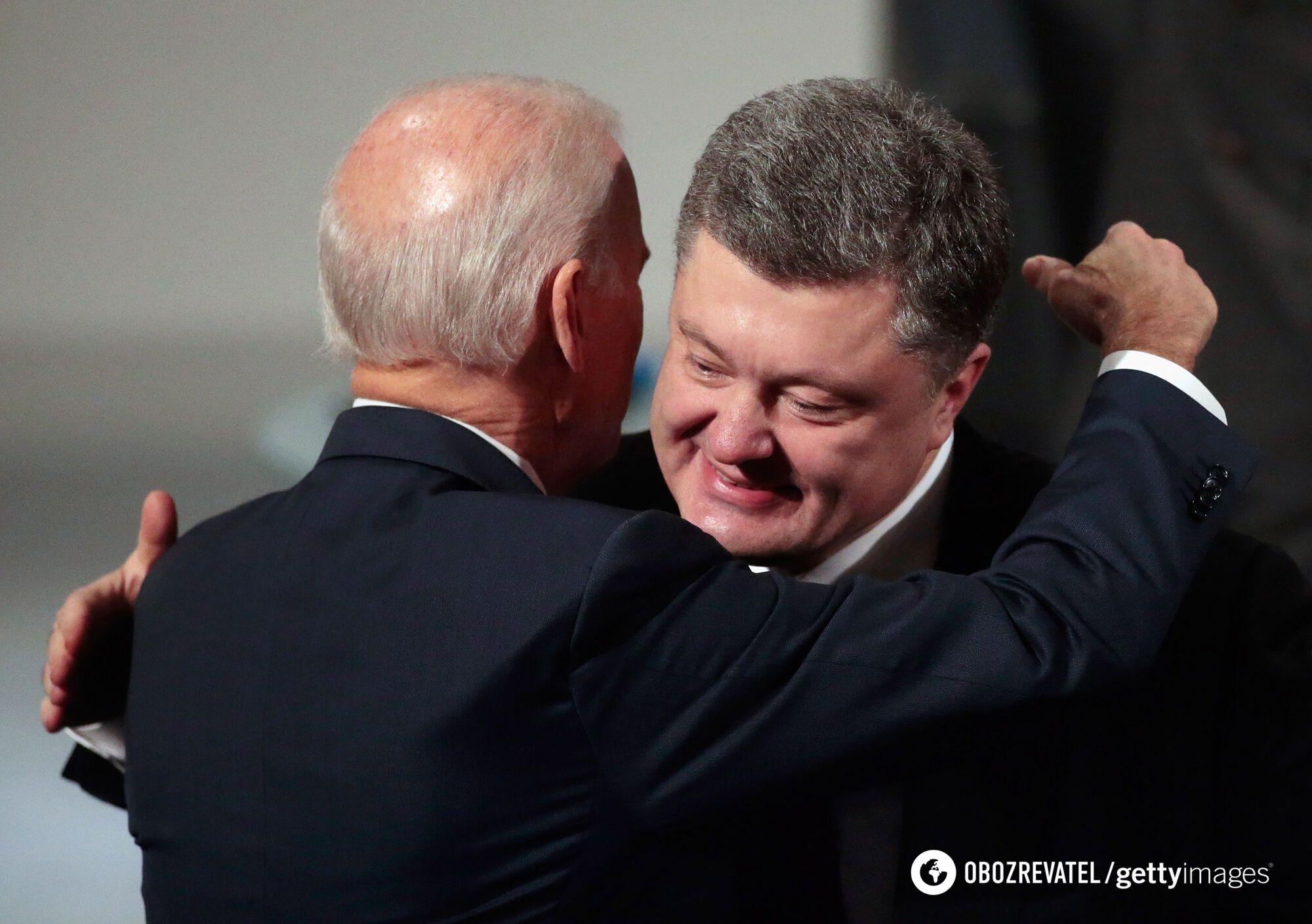 Байден і Порошенко під час зустрічі в Мюнхені