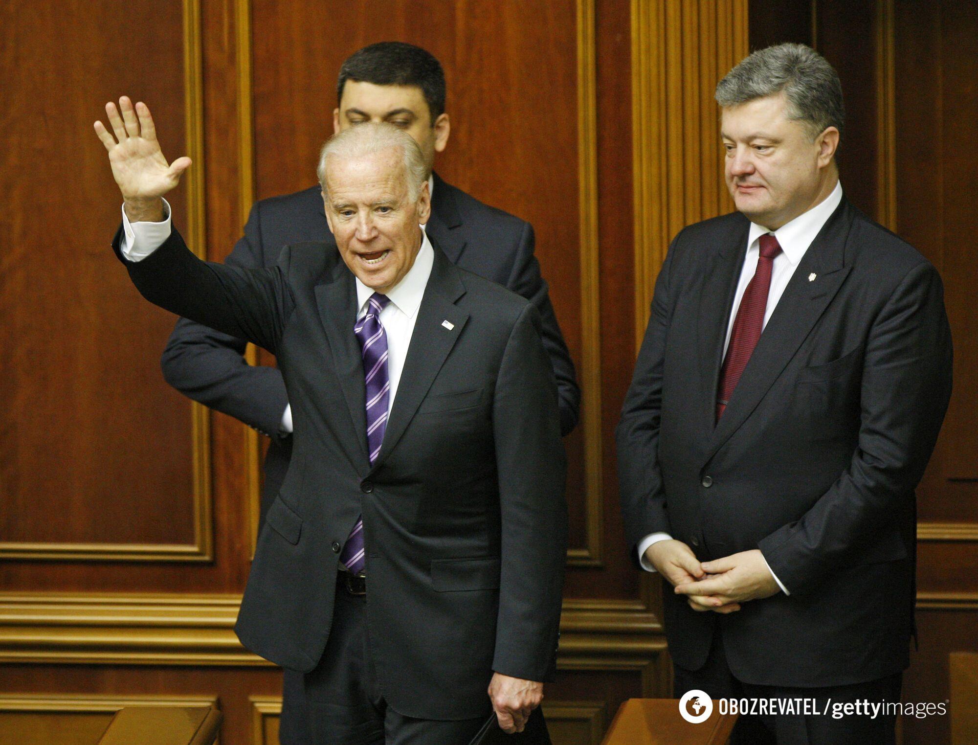 Гройсман, Байден і Порошенко у Верховній Раді.