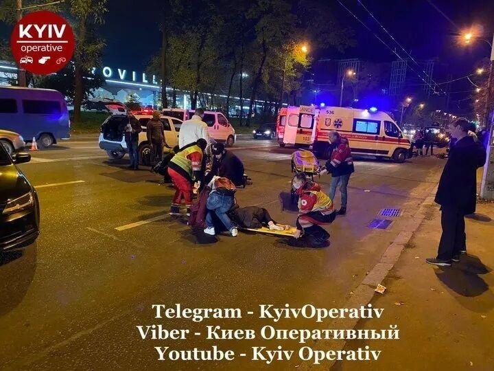 Мотоциклом управлял сотрудник СБУ.