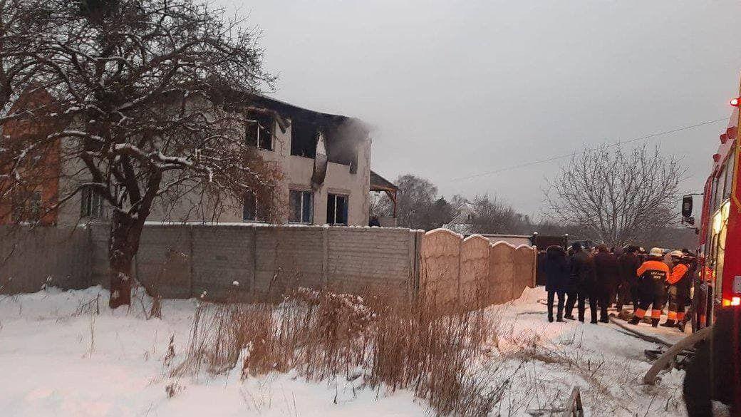 Будинок для літніх людей, що згорів у Харкові