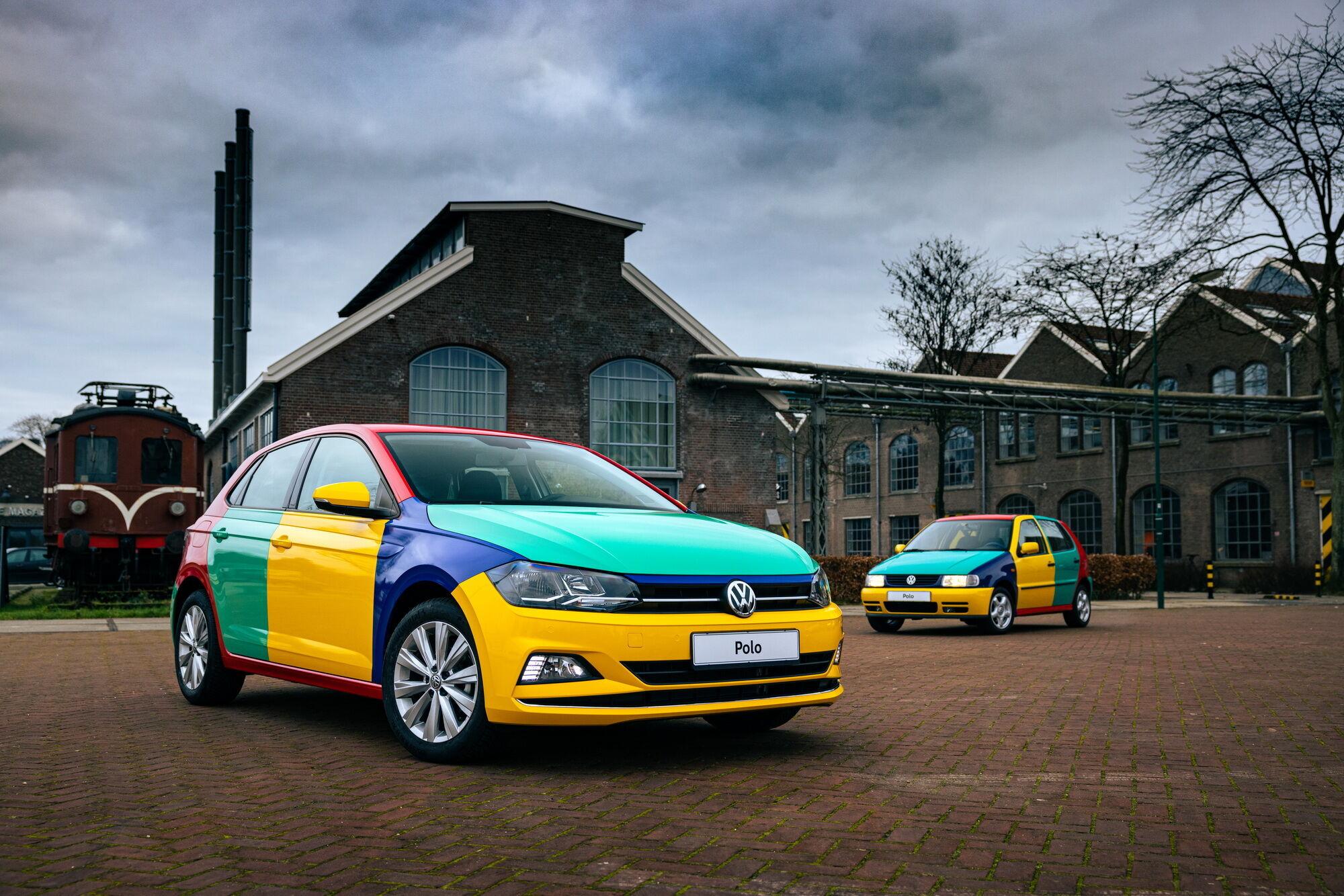 Polo Harlekin має оригінальне забарвлення кузовних панелей з використанням червоного, синього, зеленого та жовтого кольорів