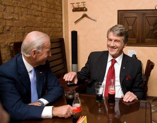 Байден і Ющенко під час зустрічі в Києві