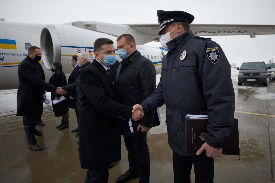 Зеленский прибыл в Харьков
