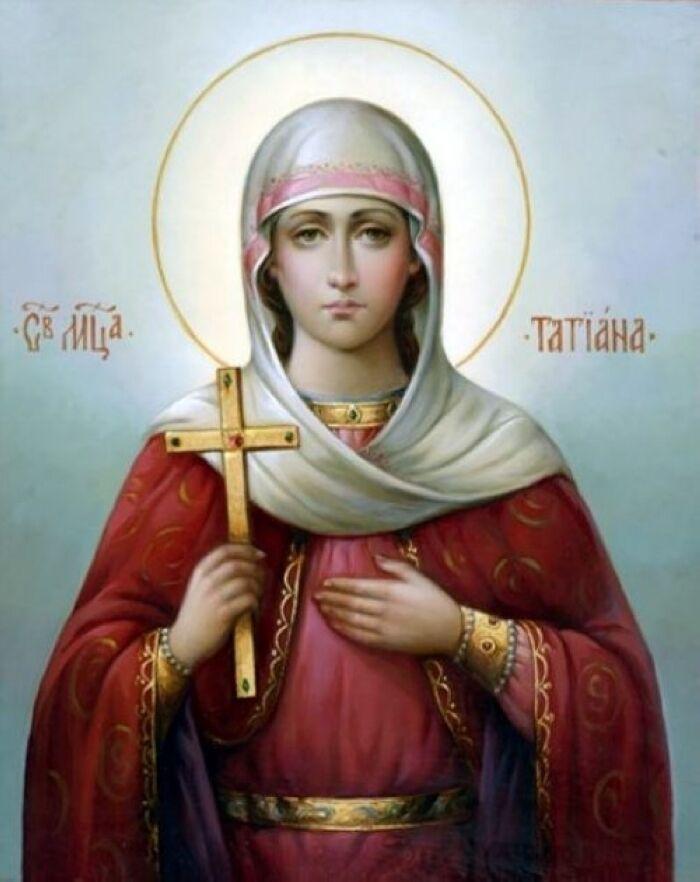 Святая Тетиана посвятила себя служению церкви.