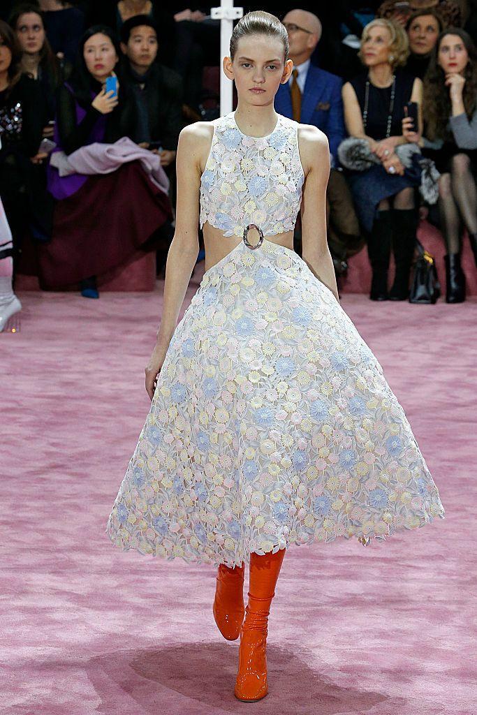 Юлия Мусейчук на показе Dior SS 2015.