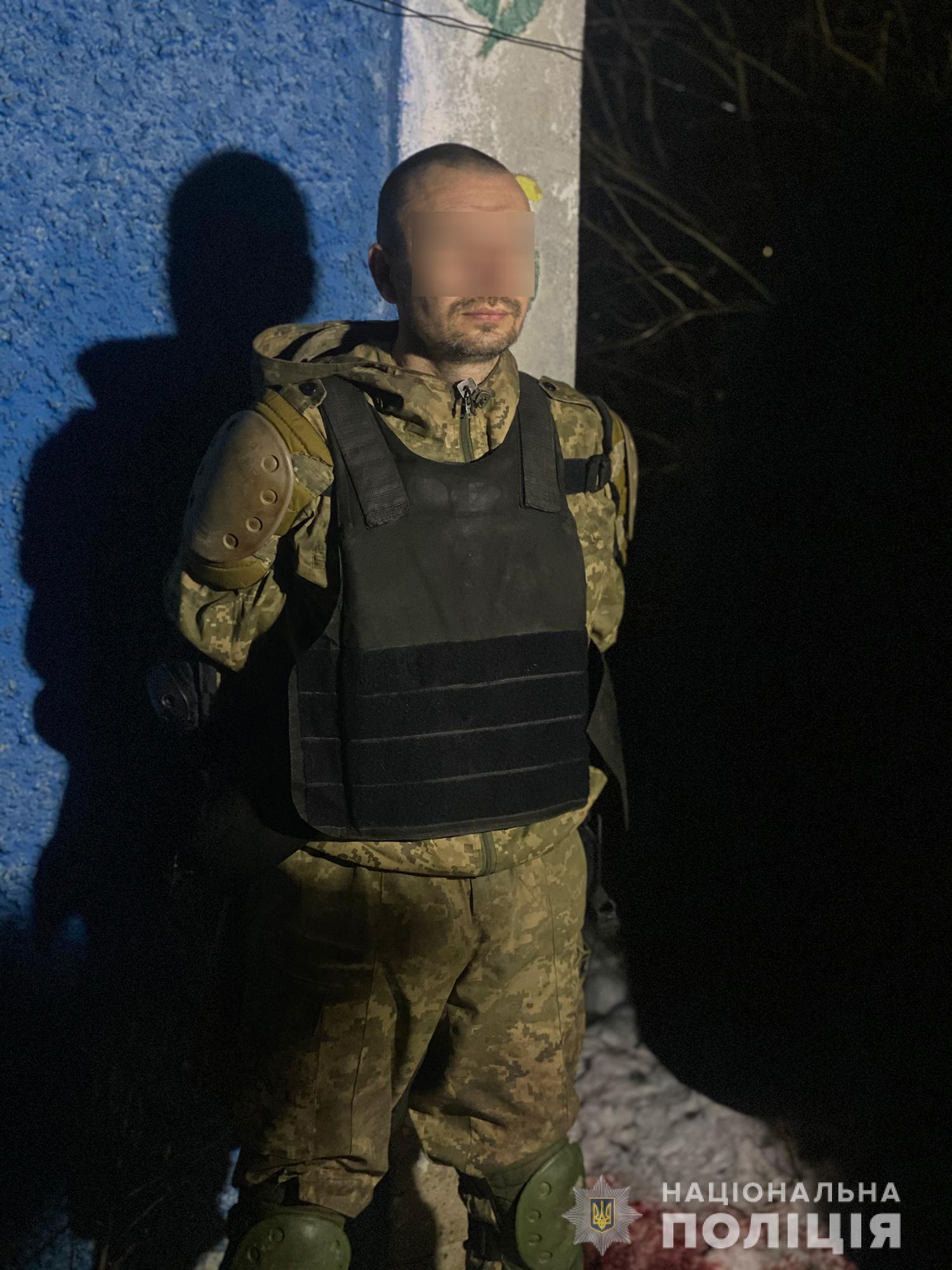 Задержанный мужчина, устроивший стрельбу