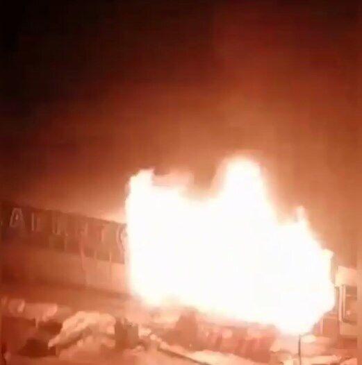 Момент вибуху газу в Краснодарі.