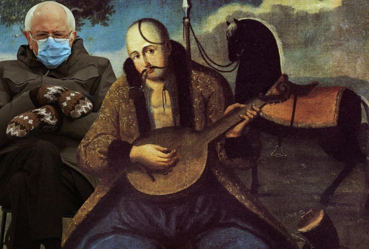 Сандерс на відомій картині