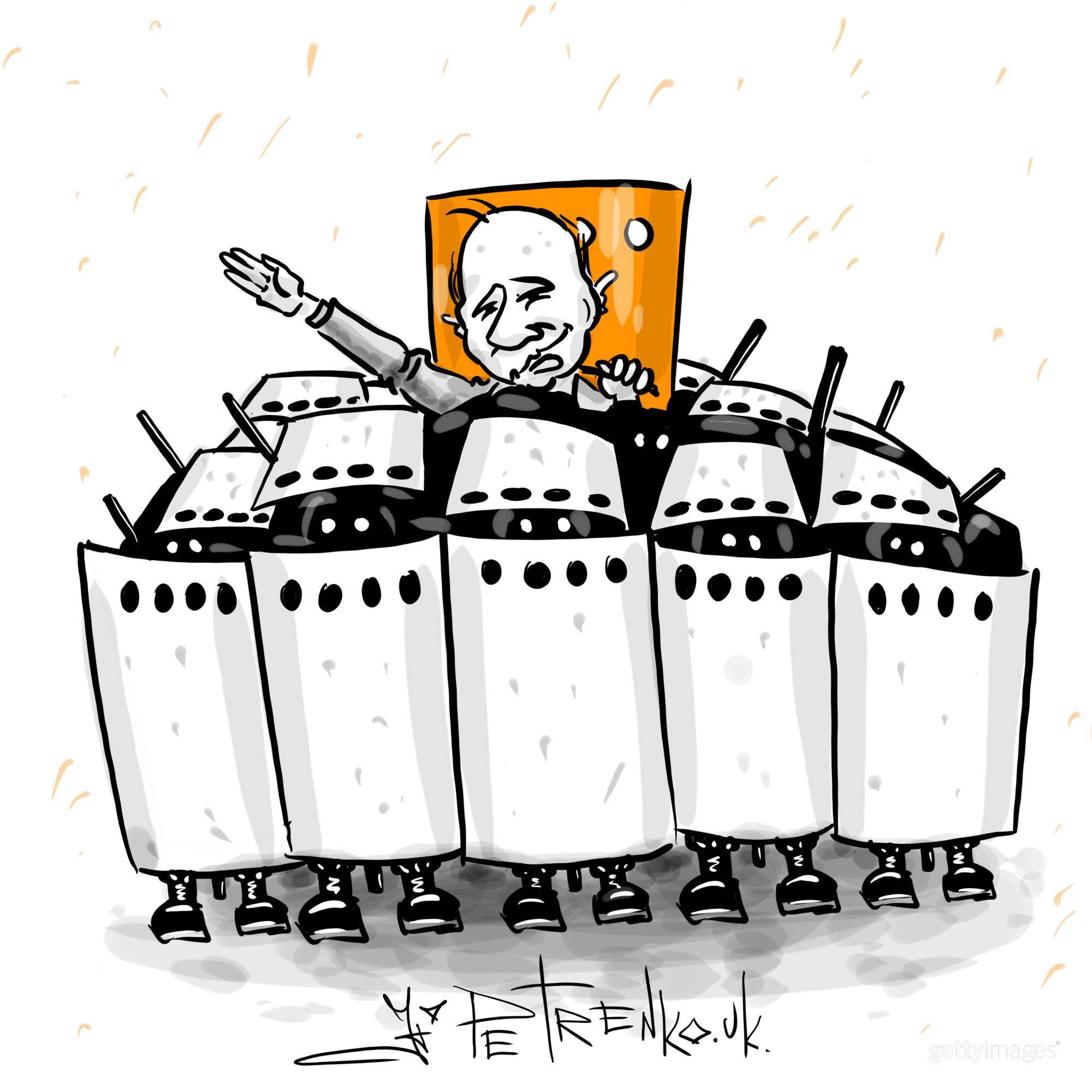 Карикатура на протести в РФ