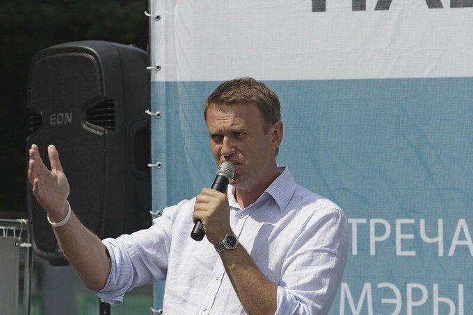 Алексей Навальный на одном из своих митингов
