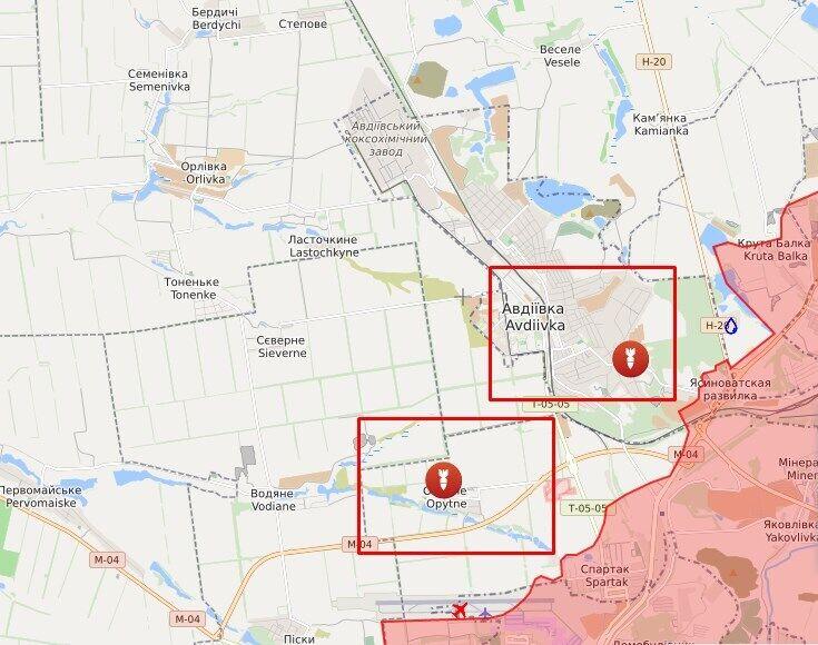 Обстріли в районі Авдіївки і Дослідного.
