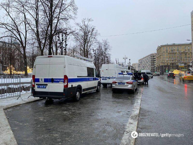 Спецтехніка в центрі Москви