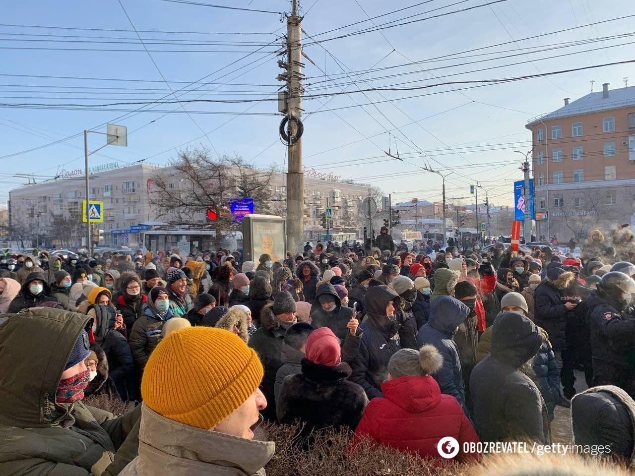 Акція протесту в Омську