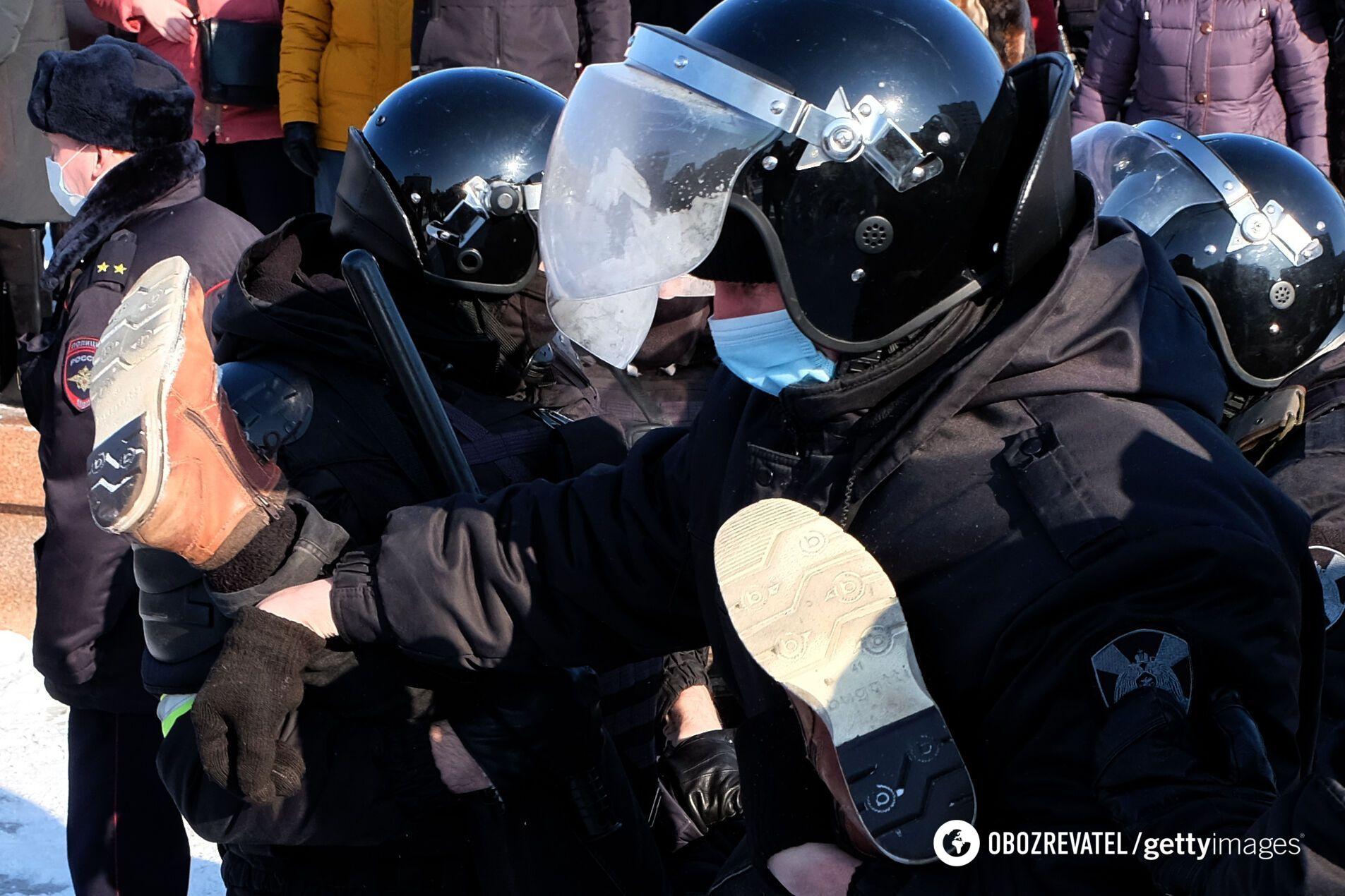 ОМОН затримував людей у Хабаровську