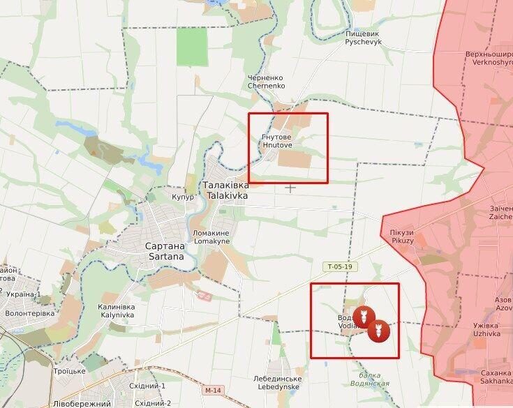Обстріл в районі Гнутове і Водяного.
