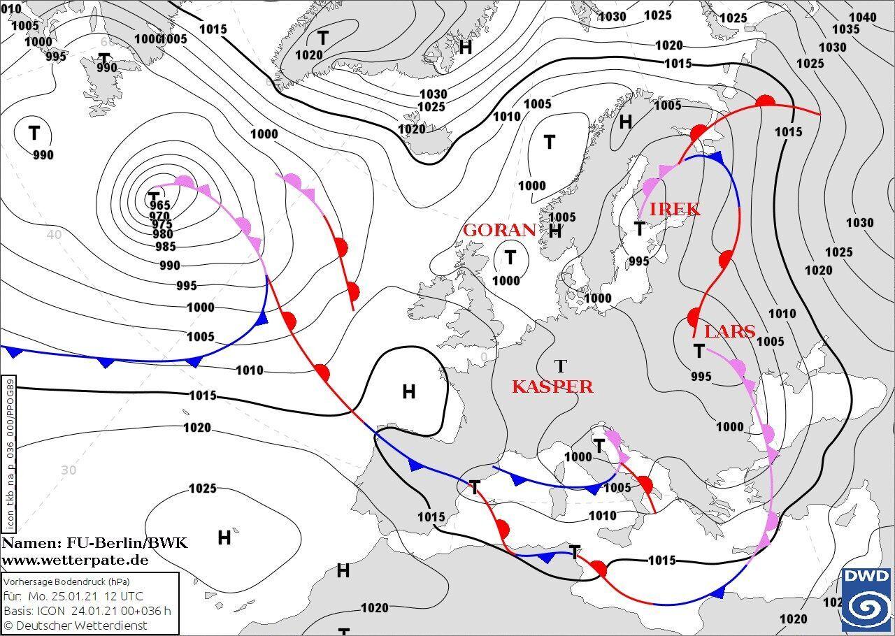 В Украину идет циклон Lars