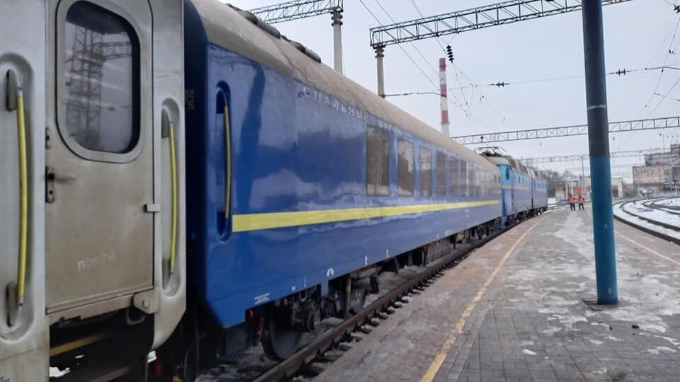 Вагон поезда Запорожье – Киев