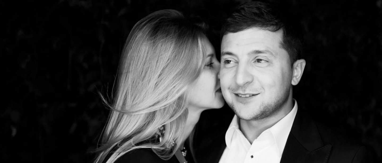 Зеленский с женой.