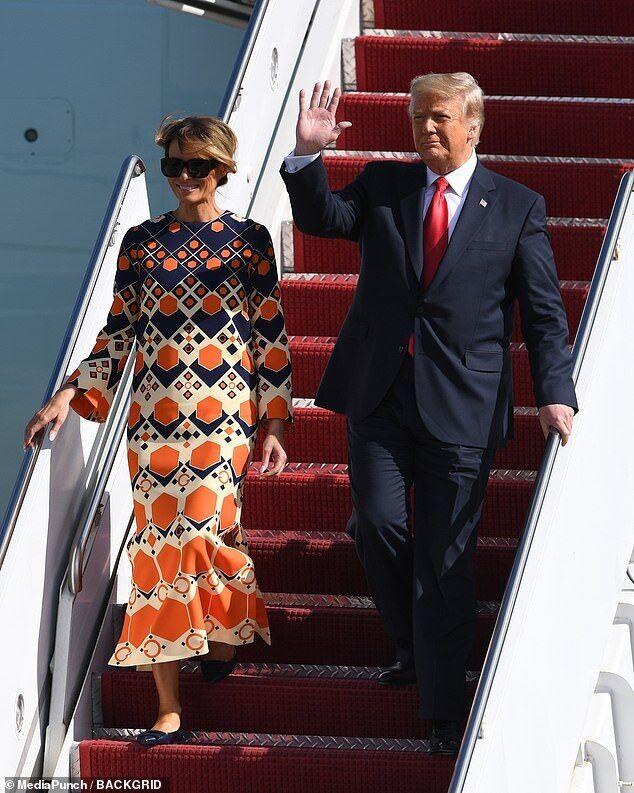 Дональд и Мелания Трампы во Флориде