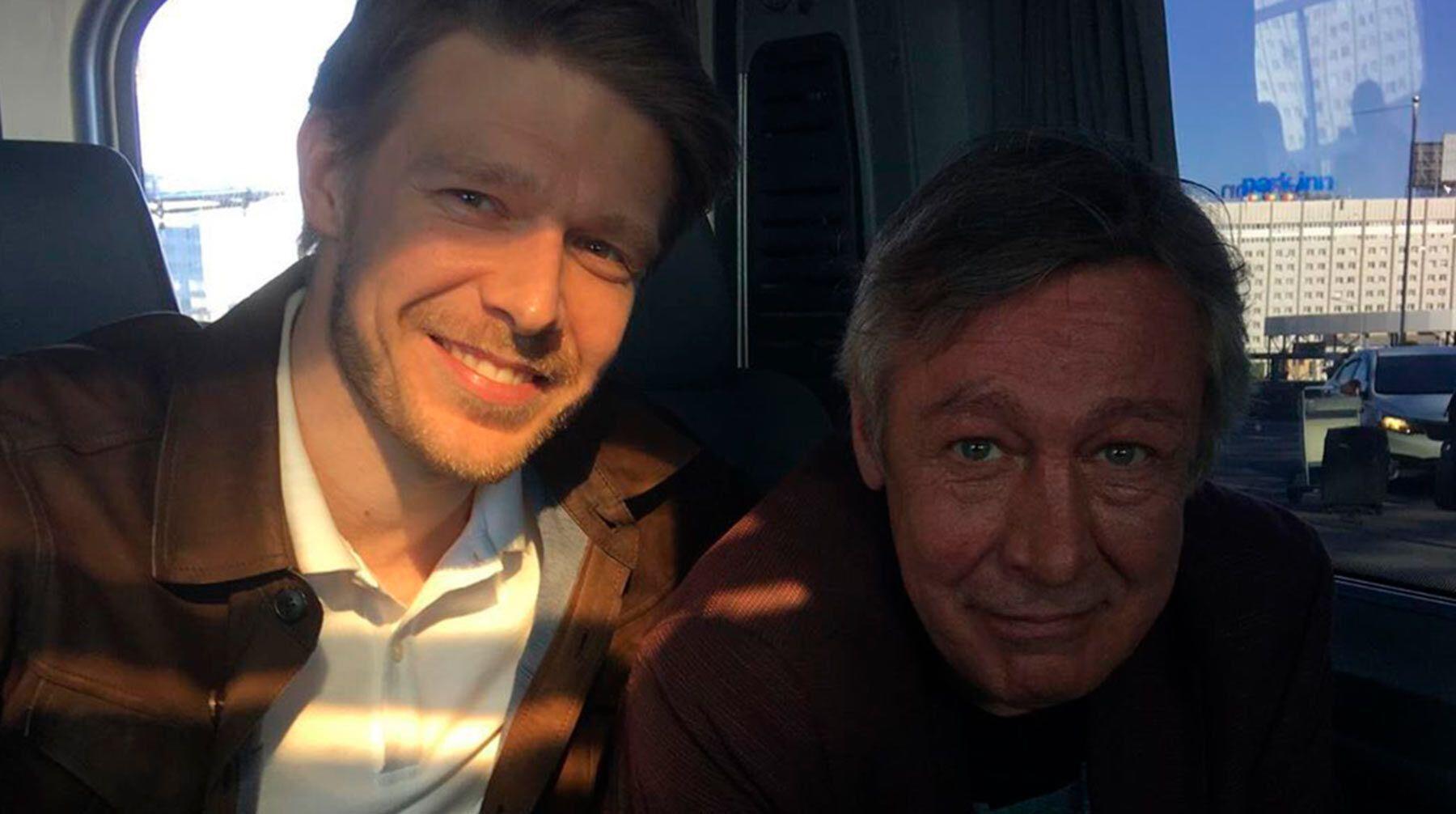Никита Ефремов с отцом Михаилом Ефремовым